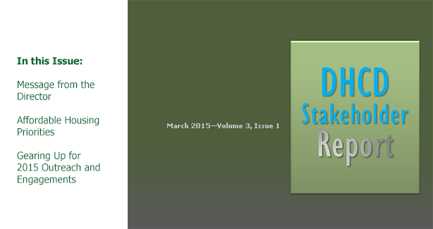DHCD Stakeholder Report – March 2015