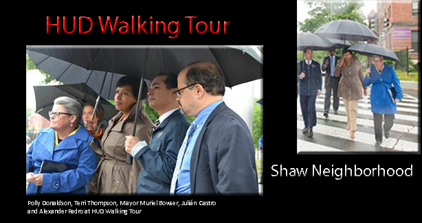 Shaw Tour with HUD Secretary Castro