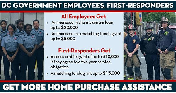 DC Government Employees, First Responders Get Expanded Home Purchase Assistance