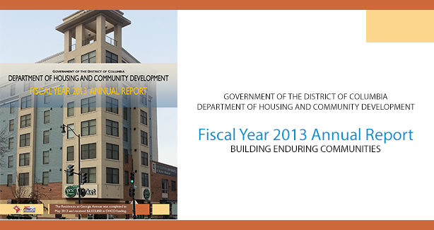 DHCD Fiscal Year 2013 Annual Report