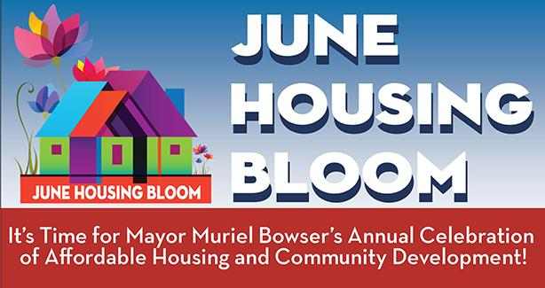 DHCD June Housing icon, June Housing Bloom