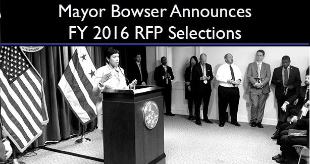 DHCD 2016 RFP Selections