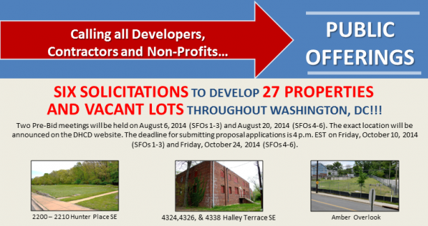 Six PADD Solicitations for Offers (SFOs) for 27 Blighted Properties and Vacant Lots Information