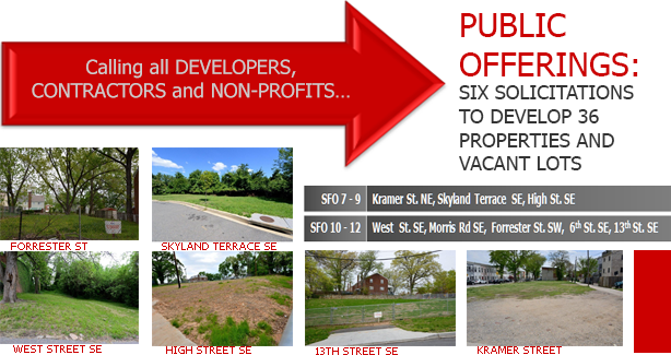 Six PADD Solicitations for Offers for 36 Blighted Properties and